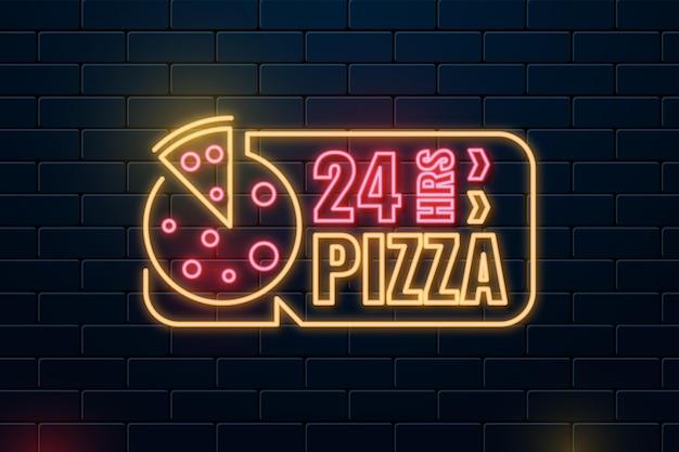 Enseigne de restaurant pizza néon