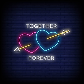 Enseigne together forever neon