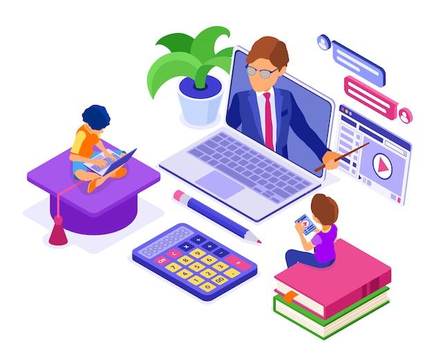 Enseignement à distance en ligne à domicile