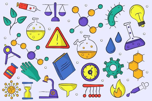 Enseignement des sciences de style dessiné à la main