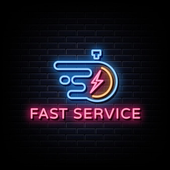 Enseignes au néon fast service logo
