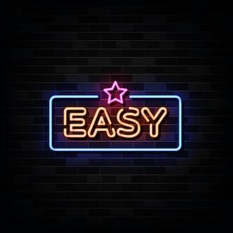 Enseignes au néon de jeu faciles. modèle de conception de style néon