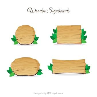 Enseignes en bois emballent