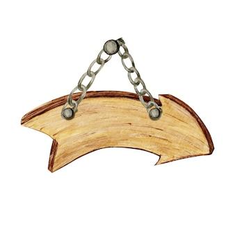 Enseignes de flèche en bois, vide vide isolé. vintage vieux, rétro bannières en bois peint à la main, planches, planche.