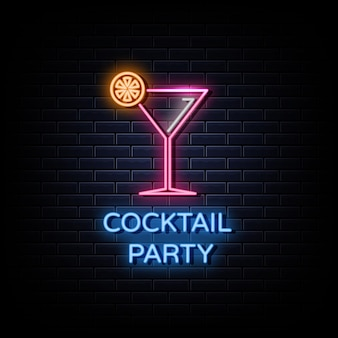 Enseignes néon logo cocktail party