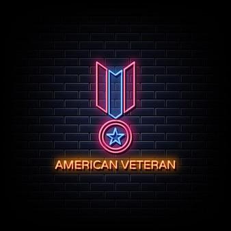 Enseignes néon logo médaille récompense militaire