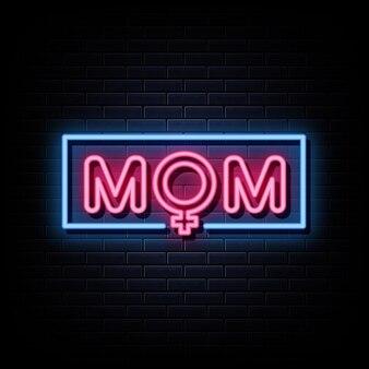 Enseignes néon logo mom
