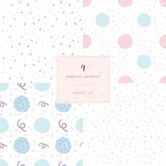 Ensemble de 4 confettis motif abstrait moderne sans soudure.