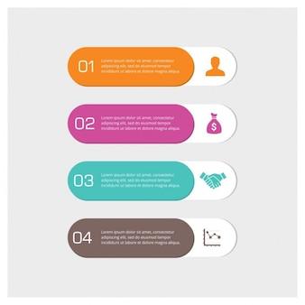 Ensemble de 4 infographic balises