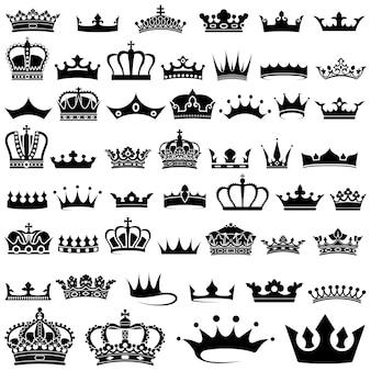 Ensemble de 50 motifs de couronnes