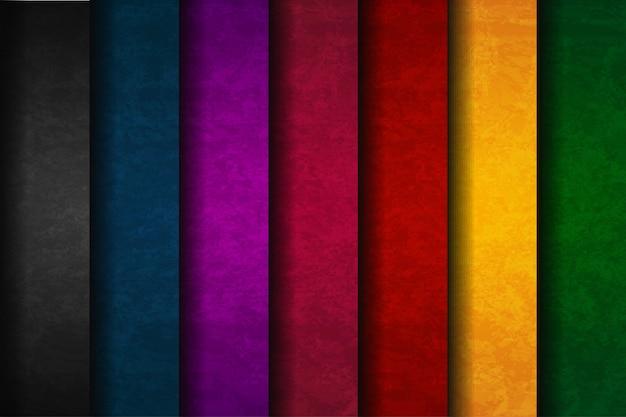 Ensemble abstrait coloré