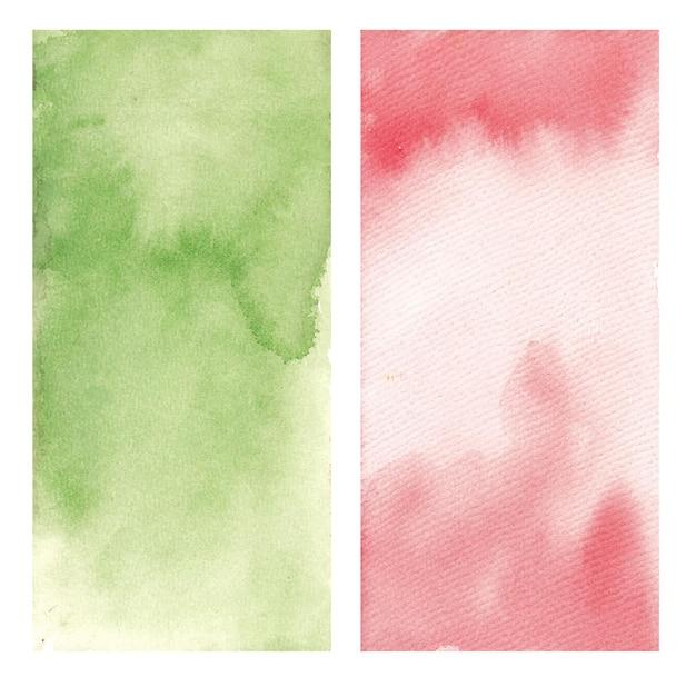 Ensemble abstrait de texture aquarelle