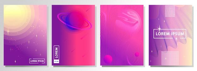 Ensemble d'abstrait. thème de l'espace