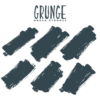 Ensemble abstrait de traits de peinture grunge sale
