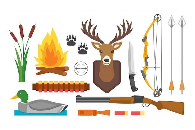 Ensemble d'accessoires de chasse vintage