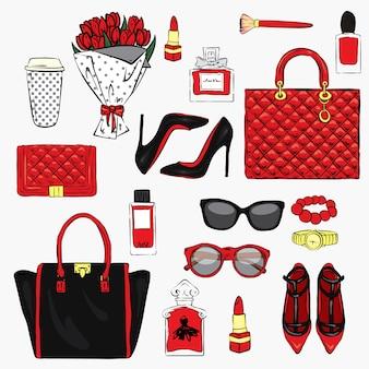 Ensemble d'accessoires et de cosmétiques élégants pour femmes
