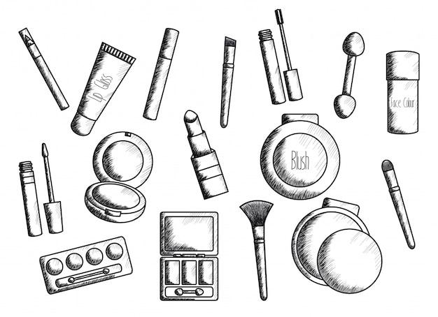 Ensemble d'accessoires de maquillage dessin
