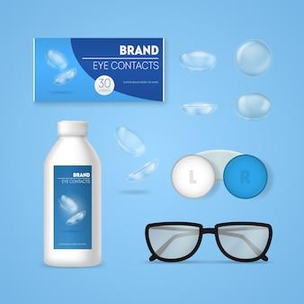 Ensemble d'accessoires d'optométrie