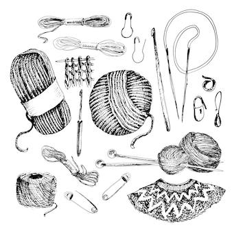 Ensemble d'accessoires à tricoter