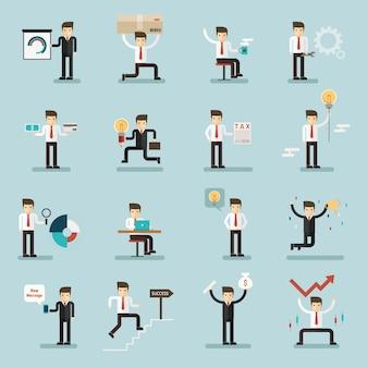 Ensemble d'activités d'homme d'affaires