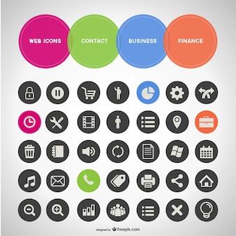 Ensemble des affaires en général d'icônes
