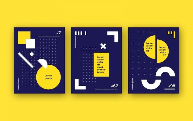 Ensemble d'affiche minimaliste moderne