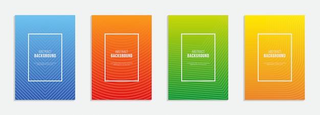Ensemble d'affiche verticale colorée avec une boîte blanche au milieu