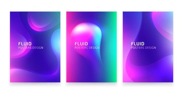 Ensemble d'affiches a4 colorées vives abstraites