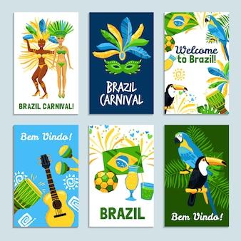 Ensemble d'affiches du brésil