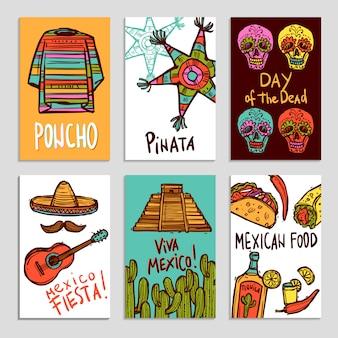 Ensemble d'affiches du mexique
