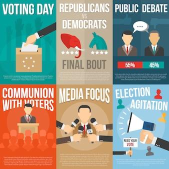 Ensemble d'affiches d'élection