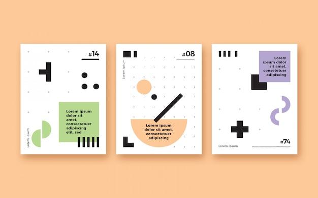Ensemble d'affiches de formes modernes minimalistes