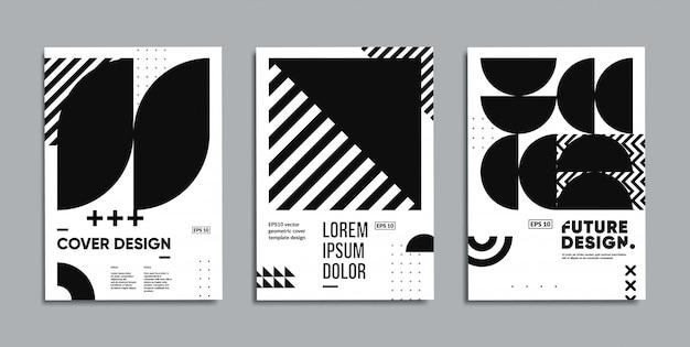 Ensemble d'affiches géométriques minimes.