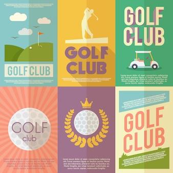 Ensemble d'affiches de golf