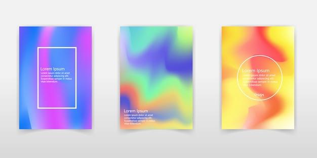 Ensemble d'affiches holographiques.