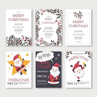 Ensemble d'affiches de vacances festives