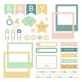Ensemble d'album de douche de bébé