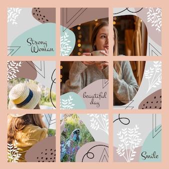 Ensemble d'alimentation de puzzle instagram