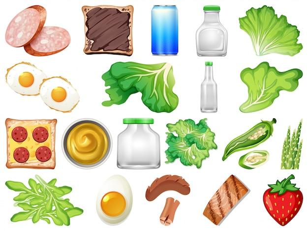 Ensemble d'aliments sains