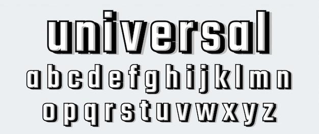 Ensemble d'alphabet de police de bannière de promotion décontractée