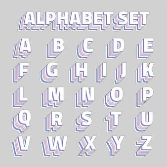 Ensemble de l'alphabet