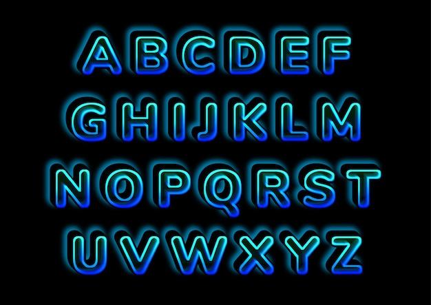 Ensemble d'alphabets 3d illusionniste