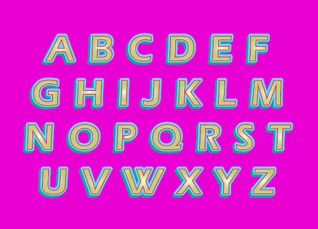 Ensemble d'alphabets 3d sweet color