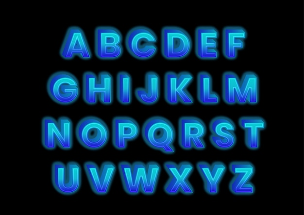 Ensemble d'alphabets effet bloc de glace