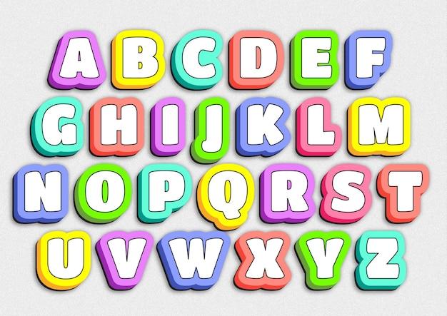 Ensemble d'alphabets de jeu pour jardins d'enfants