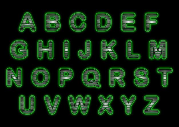 Ensemble d'alphabets à poignée verte