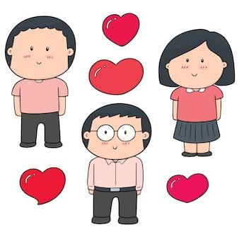 Ensemble d'amant