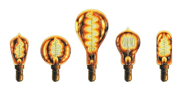 Un ensemble d'ampoules.