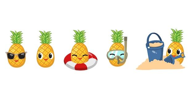 Ensemble d'ananas mignon