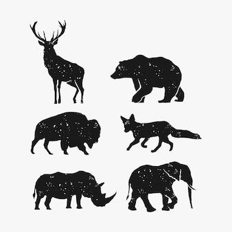 Ensemble animal sauvage rustique